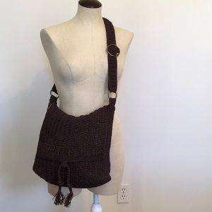 The Sac Crocheted/Woven Boho Crossbody Satchel